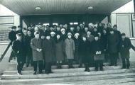 Координационное совещание в новом здании БелНИИРХ, Минск, 1975 г. В первом ряду директора институтов: Л.А. Кудерский (ГосНИОРХ), Л.П. Рыжков (СевНИОРХ), П.И. Жуков (БелНИИРХ), П.Т. Галасун (УкрНИИРХ), а также представители рыбохозяйственной науки Латвии, Литвы, Эстонии
